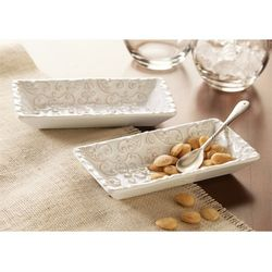 Mud Pie Knot & Beau Tidbit Trays 3-Piece Set