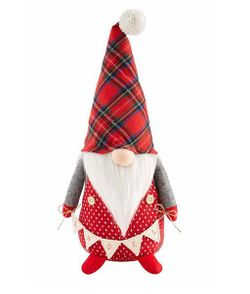 Mud Pie Christmas Gnome Sitter 15 3/4""