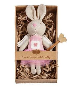 Mud Pie Mini Tooth Fairy Bunny Pocket Buddy 6""