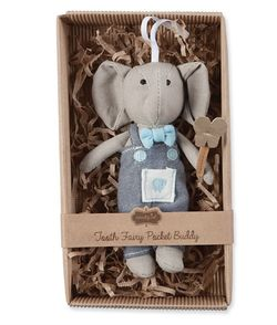 Mud Pie Mini Tooth Fairy Elephant 6""