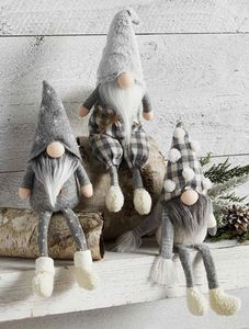 Mud Pie Neutral Dangle Leg Gnomes - SET of 3