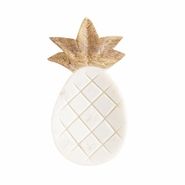 Mud Pie Pineapple Shaped Marble and Wood Spoon Rest