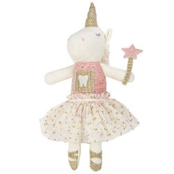 Mud Pie Unicorn Tooth Fairy Doll