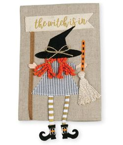 Mud Pie Witch Dangle Leg Halloween Hand Towel