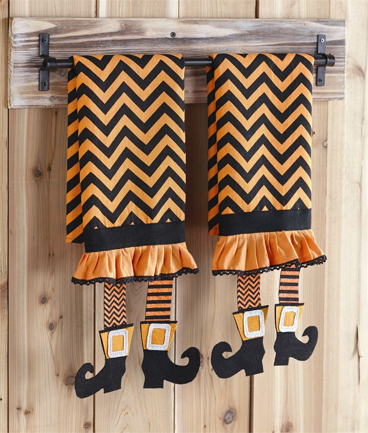 Tea Towels Myer: Mud Pie Witch Legs Chevron Tea Towels Set Of 2
