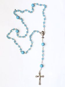 My First Holy Communion Rosary Beads - Blue