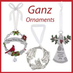Ornaments by Ganz and Midwest CBK