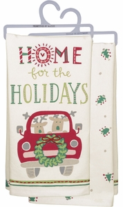 Primitives by Kathy Kitchen Tea Towels - Home for the Holidays