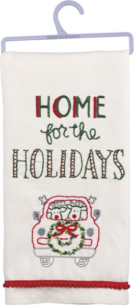 Primitives by Kathy Dish Towels - Home for the Holidays