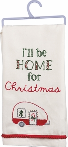 Primitives by Kathy Dish Towels - I'll be Home for Christmas