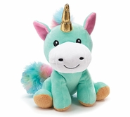 Rainbow Unicorn with Gold Horn Plush 7""