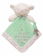 """Snuggle Buddy Lamb Paci Holder - """"Love you more than all the stars"""""""