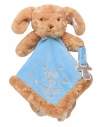 """Snuggle Buddy Puppy Blanket with Paci Holder - """"Dream Big Little One"""""""