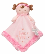 "Snuggle Buddy Plush Doll Blanket with Paci Holder - ""Love You"""