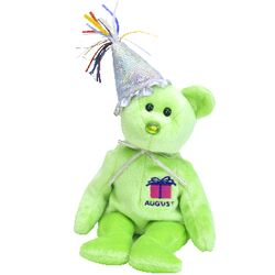 TY Beanie Babies August Birthday Bear with Hat