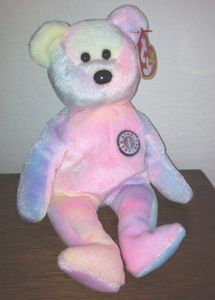 TY Beanie Babies B.B. Bear (Birthday Bear)