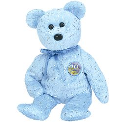 TY Beanie Babies Decade Bear - Blue