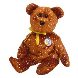 TY Beanie Babies Decade Bear - Brown