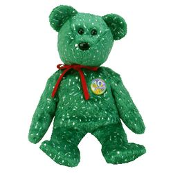 TY Beanie Babies Decade Bear - Green