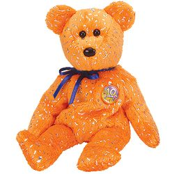 TY Beanie Babies Decade Bear - Orange