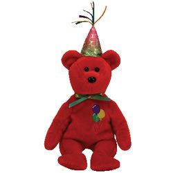 TY Beanie Babies Happy Birthday Bear Red