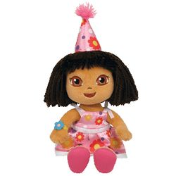 TY Beanie Babies Happy Birthday Dora the Explorer