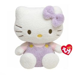 TY Beanie Babies Hello Kitty Purple Fuzzy