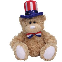 TY Beanie Babies Independence Bear (White Feet Version)