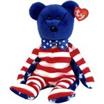 TY Beanie Babies Liberty the Bear (Blue Head Version)