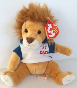 TY Beanie Babies My Dad Father's Day Lion