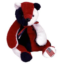 TY Beanie Babies Patriot Bear - Reversed Version