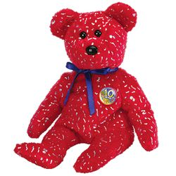TY Beanie Babies Decade Bear - Red