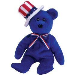 TY Beanie Babies Sam the Bear (Blue Version)