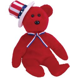 TY Beanie Babies Sam the Bear (Red Version)