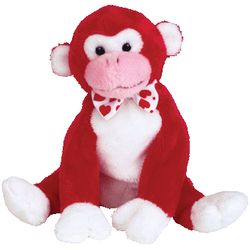 TY Beanie Babies Valentine the Monkey