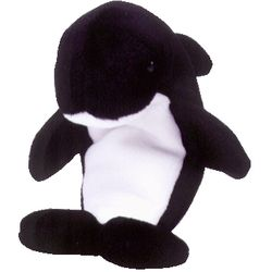 TY Beanie Babies Waves the Orca Whale