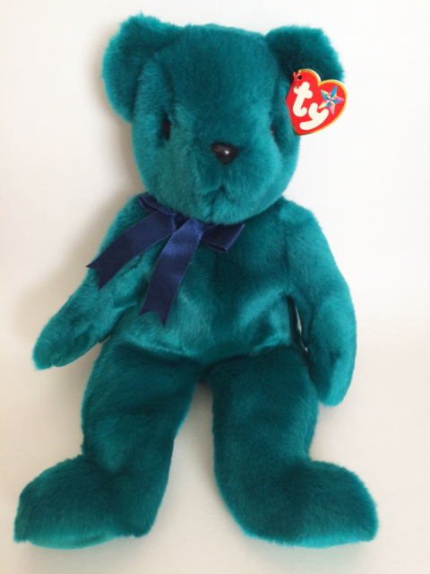 MWMT Ships for Free Ty Old Face Teddy Teal  Beanie Buddy