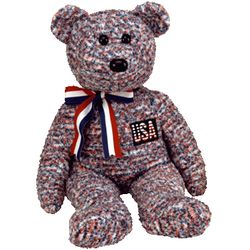 TY Beanie Buddy USA the Bear (14 inches)