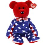 TY Beanie Babies Liberty the Bear (Red Head Version)