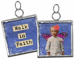 Primitives by Kathy Pendant Charm - Walk in Faith