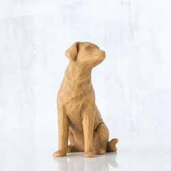 Willow Tree Love My Dog Figurine - Light Brown