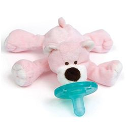 WubbaNub Baby Pacifier Soothie - Pink Bear