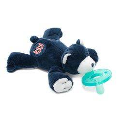 WubbaNub Baby Pacifier Soothie - Boston Red Sox Bear