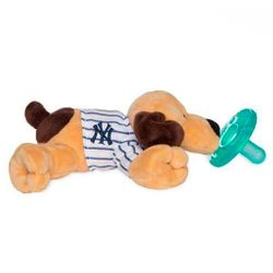 WubbaNub Baby Pacifier Soothie - New York Yankees Pinstripe Puppy