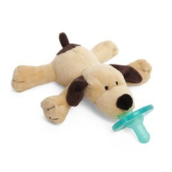 WubbaNub Baby Pacifier Soothie - Brown Puppy