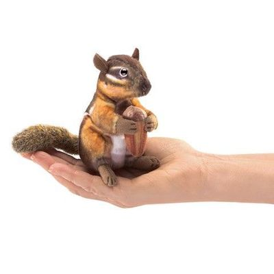 Folkmanis Puppet <br>Mini Chipmunk with Acorn