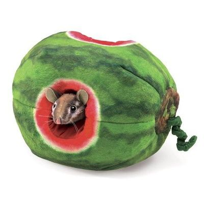 Folkmanis Puppet <br>Chipmunk in Watermelon
