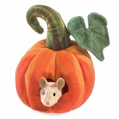 Folkmanis Puppet <br>Mouse in Pumpkin