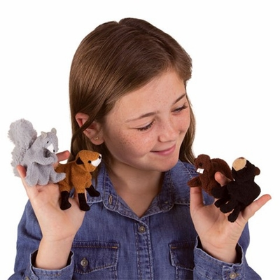 Folkmanis Finger Puppets <br>Woodland Animal Set