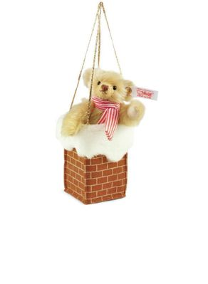 Steiff <br>Limited Edition <br>Teddy in Chimney Ornament